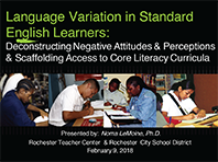 Sacramento City College - Language Variation & Learning - Seminar 1